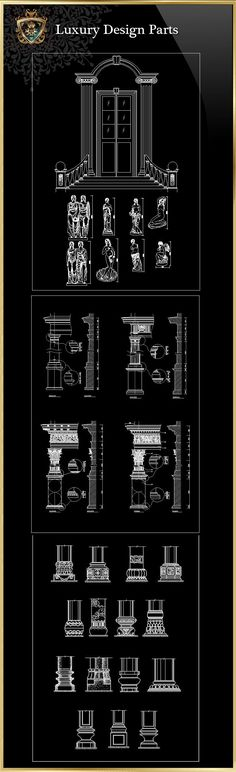 ★【Luxury Design Parts 2】Download Luxury Architectural Design CAD Drawings--Over 20000+ High quality CAD Blocks and Drawings Download!