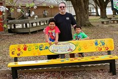 This adorable Buddy (Friendship) Bench was built by the grandfather of a student at Slaughter Elementary School in Slaughter, Louisiana.
