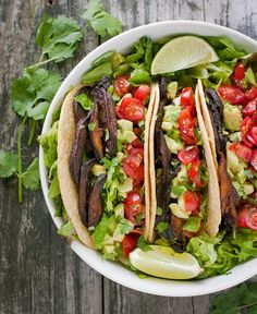 Vegetarian BLT Tacos with Shiitake Bacon