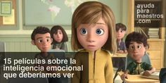 15 películas sobre la inteligencia emocional que deberíamos ver. Kid Movies, Disney Pixar, Disney Characters, Fictional Characters, Baby Names, Movie Inside Out, The One, Love Bugs, New Kids