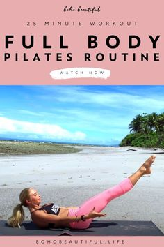 Summer Body Workouts, Gym Workout Tips, Fitness Workout For Women, Toning Workouts, Pilates Workout, Workout Videos, Yoga Fitness, Pilates At Home, Pilates Body