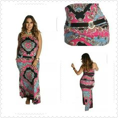 Perfectly Paisley Buckled Dress Cute and flirty strapless Paisley dress with front waist buckle. Perfect to pair with heels or sandals. 96% Polyester 4% Spandex. Thank you and Happy Poshing!!!! Available May 8th. Dresses