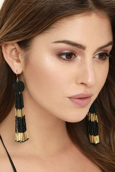 Maayra Contemporary Earrings Golden Hoops Office Casualwear Earrings