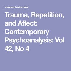 sexual trauma repetition