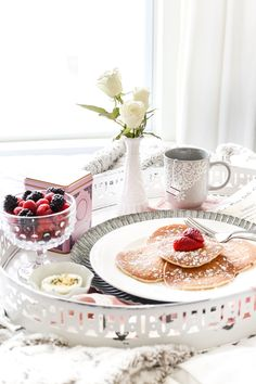 Enamel Breakfast Tray Makeover + Valentine's Date Q&A Postcard Printable | blesserhouse.com - A quick and easy antique style enamel breakfast tray makeover plus a Valentine's Date Q&A postcard free printable for a fun, no-fuss breakfast date in bed. #valentinesday