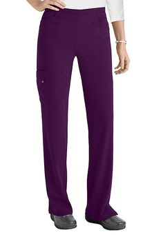 Take it from our customers-- The Grey's Anatomy Signature April 5-pocket cargo pants (in Dewberry) are among the most comfortable on the market. The lightweight construction and soft, movable fabric make these almost like wearing yoga pants to work!