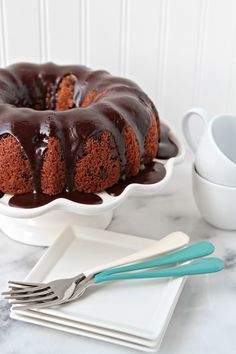 A rich chocolate cake infused with cocoa and coffee creating a chocolate lover's dream come true.