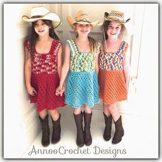 Annoo's Crochet World: CowGirl Spring Dress Free Tutorial