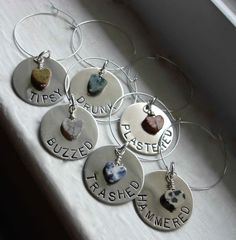 $46 - Metal Wine Charms