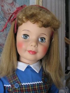 blonde patti playpal doll | Ideal Patti Playpal - Blonde with Curly Bangs