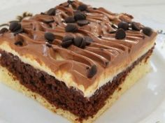 Recipe Nescafé řezy by lussy, learn to make this recipe easily in your kitchen machine and discover other Thermomix recipes in Dezerty a sladkosti. Czech Recipes, Russian Recipes, Ethnic Recipes, Sweet Desserts, Dessert Recipes, Croatian Recipes, Creative Food, Amazing Cakes, Pavlova