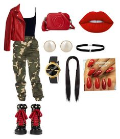 """""""Gucci."""" by wytannac on Polyvore featuring Zimmermann, Gucci, PONO, Amanda Rose Collection and Lime Crime"""