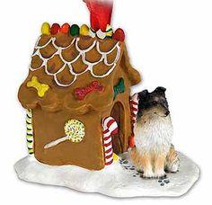 Tricolor+Sheltie+Gingerbread+House+Christmas+Ornament $14.95