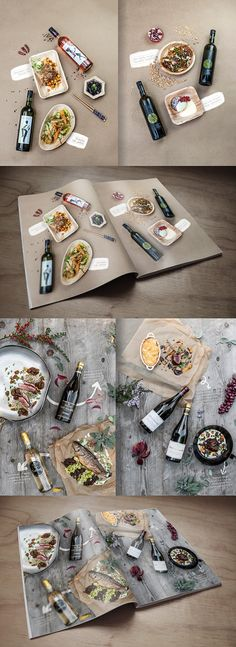 45 Ideas For Photography Food Wine Wine Photography, Food Photography Styling, Food Styling, Food Graphic Design, Food Design, Menue Design, Magazin Design, Restaurant Menu Design, Restaurant Food