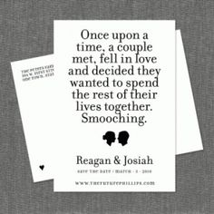 Not my fave design but like the quote for engagement announcements.