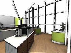 Staff Restaurant Design Services - Thames Water - 3D Animation, by Space Catering