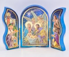 Nativity Scenes to celebrate Christmas and remember why Christmas is Christmas, from your Catholic gift shop. Why Christmas, Catholic Gifts, Wood Plaques, Triptych, Gift Store, Nativity Scenes, Frame, Navidad, Wood Signs