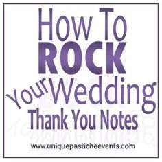 How to ROCK Your Wedding Thank You Notes