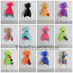 Trolls headband Party Pack Pick Your Pack Size Crazy