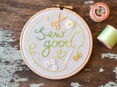 Korean Craft, Sew Good, embroidery hoop art