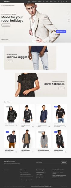 Norebro is clean and modern design responsive multipurpose #WordPress theme for #fashion store #eCommerce shop website with 30+ niche homepage layouts website to live preview & download click on Visit
