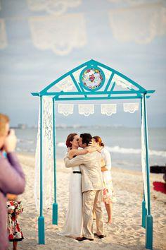 Boda en playa estilo mexicano | Ideas para una boda estilo Mexicano | El Blog de una Novia | #boda #playa