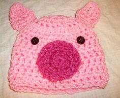Little Piggy Hat  Made To Order  Preemie To 5T by skylay on Etsy, $17.00