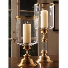 Shop for Global Views Estate Hurricane-Antique Brass, and other Accessories at Batte Furniture in Jackson, MS. Hurricane Candle Holders, Brass Candle Holders, Hurricane Lamps, Candle Lanterns, Pillar Candles, Candle Sconces, Candle Stands, Candels, White Candles
