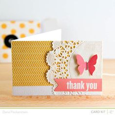 (using my project life cards copy format)  Thank You Card Butterfly  by @Dana using @Studio Calico's Spencer's Kit (April 2013)