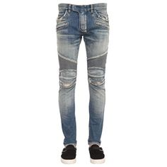 Ripped Biker Jeans by Balmain