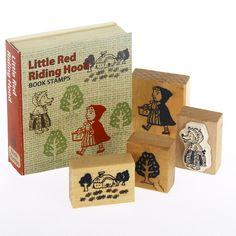 Vintage Stamp Set- Little Red Riding Hood