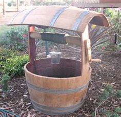 Wine Barrel Project Wishing Well