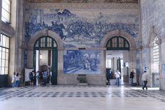 São Bento Train station (w/ 20.000 azulejos)