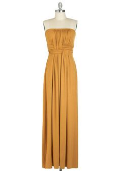 Gorgeous in Goldenrod Dress. I've settled on this dress for ND's homecoming....YAYYYYYY!!!!