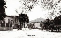 Plaza Principal en 1942 en Zimapan Hidalgo Mexico