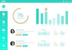 Dashboard UI Design #PSD #Flat #design: pay with a tweet/like/+1, #freebie