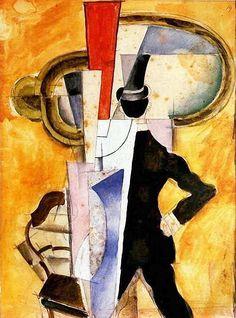 Иван Пуни. «Автопортрет в зеркале» 1921 г.