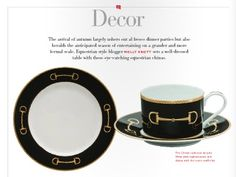 EQ's Décor: Equestrian-themed china makes for a well-dressed table in the new Equestrian Quarterly Magazine!