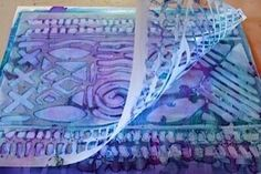 Using Alcohol Ink with StencilGirl stencils with Cathy Taylor to create Mixed Media projects.