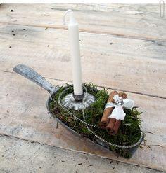 """Weihnachtsgesteck """" Bei Frau Lange """" Zimtduft von Lille Landsbyen auf DaWanda.com"""