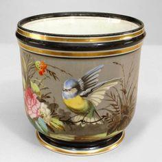 English Victorian accessories jardiniere/cachepot porcelain