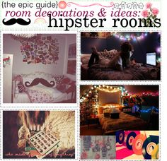 """""""the epic guide of room decorations & ideas: hipster rooms"""" by crazygirl220 ❤ liked on Polyvore"""