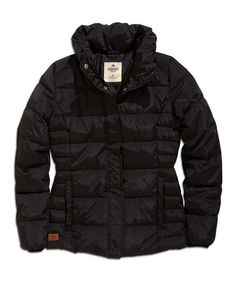 Take a look at this Black Snap-Up Puffer Jacket on zulily today!