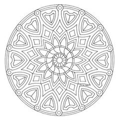 Mandala color page. Miscellaneous coloring pages. Coloring pages for kids. Thousands of free printable coloring pages for kids! Abstract Coloring Pages, Flower Coloring Pages, Mandala Coloring Pages, Coloring Book Pages, Coloring Sheets, Mandala Pattern, Zentangle Patterns, Zentangles, Celtic Mandala