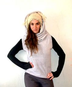 free pattern  ★10 MINUTES HOODED VEST★