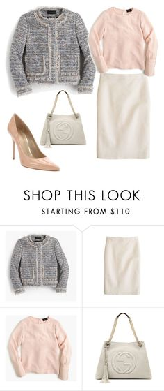"""Untitled #627"" by caseylovesjcrew ❤ liked on Polyvore featuring J.Crew, Gucci, Stuart Weitzman, women's clothing, women's fashion, women, female, woman, misses and juniors"