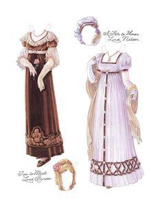 Regency Lady Paper Dolls, Pg 5