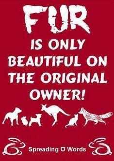 Don't wear fur