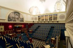 The main temple at the Grand Lodge Of Italy of the Ancient and Accepted Freemasons - Rome