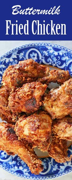 Buttermilk Fried Chicken! Buttermilk marinade makes the chicken so amazingly tender. We love this fried chicken! Great for summer picnics and potlucks.